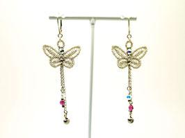 Boucles d'oreilles papillon- style bohème