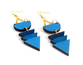 Boucles Triangles Bleues