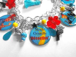 """Bracelet Breloques """"Mode Gentille Désactivé"""""""
