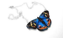 Pendentif Papillon Bleu