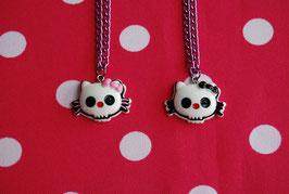 Collar Kitty Skull