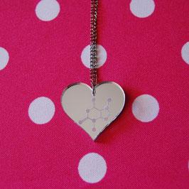 Collar Corazón Molécula Chocolate - Teobromina