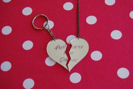 Corazón dividido en 2 partes