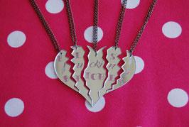 Corazón dividido en 5 partes