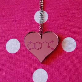 Collar Corazón Molécula MDMA