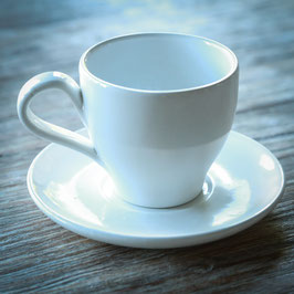 TAPERED TEA CUP WITH SAUCER CM. 9,5