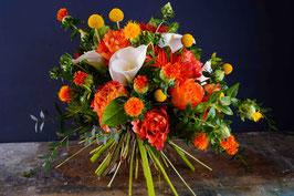 Bouquet sui toni dell'arancio