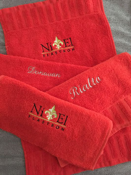 Niel Personalisierte Handtücher Rot für Trensen und Kandaren