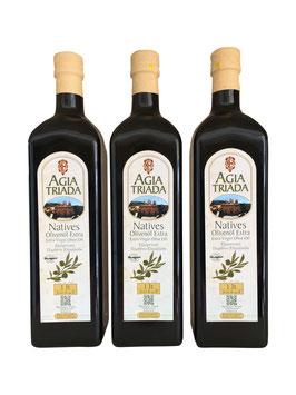 Sparset 3x1 Liter Flaschen Olivenöl Extra Nativ Kloster Agia Triada Kreta