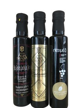 Sparset 3x 250ml Flasche -Trilogie Vinolio &  Agia Triada- Kreta