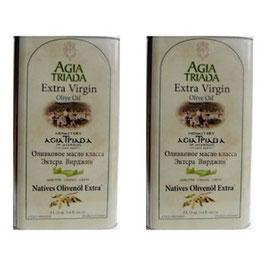 Sparset 2x3 Liter Kanister Olivenöl Extra Nativ Kloster Agia Triada, Kreta