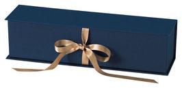 Geschenkschatulle dunkelblau 1er mit Schleifenverschluss