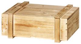 Holzkiste mit Schiebedeckel und Leisten geflammt für individuelle Feinkost Geschenke