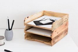 Briefablage 3er Set- Ablagesystem für Papier (A4)