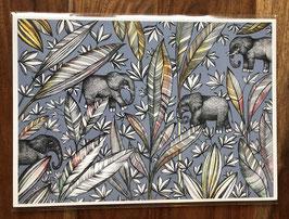 Kunstdruk Olifant
