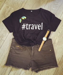 T-shirt #TRAVEL women