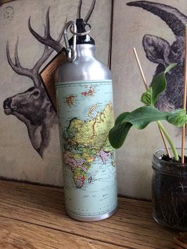 MOTW waterfles wereldkaart