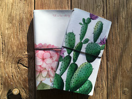 Travelplanner memo journal cactus - flower design