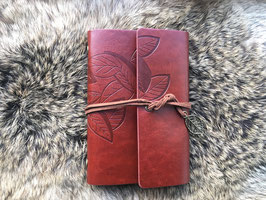 Vintage Travel Journal Notebook ''Golden Brown Leaves'' A6 formaat