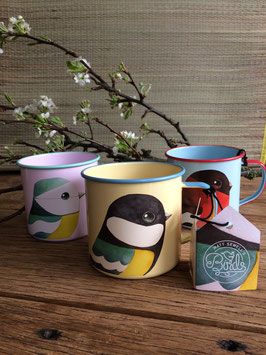 Great Tit Enamel Mug