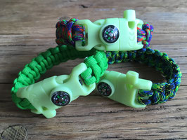 Glow in the Dark | Survival Bracelet | Paracord Armband | Survival armband | met Kompas