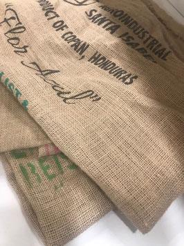 Kaffeesäcke aus Jute, leer und gebraucht
