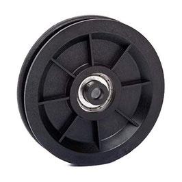 Umlenkrolle Ø 90 mm für Seile bis Ø 7 mm aus Kunststoff mit Kugellager
