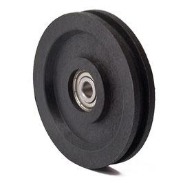 Führungsrolle Ø 63 mm für Seile bis Ø 4 mm aus Kunststoff mit Kugellager