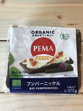 PEMA 有機全粒ライ麦パン(プンパーニッケル)375g(7枚入)