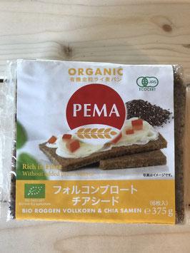 PEMA有機全粒ライ麦パン(フォルコンブロート&チアシード)375g(6枚入)