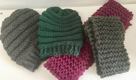 Slouchy Hats and Matching Scarves