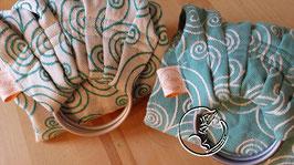 Fascia ad anelli tessuto radici e ali