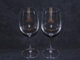 geätztes Rotweinglas