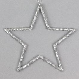 Glitzerstern, Silber Ø 12 cm