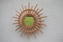 Spiegel Rattan  - Sonnenartig