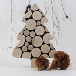 """Dekorativer Weihnachtsbaum """"Haselnuß-Unikat"""" Handmade"""
