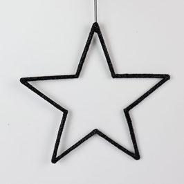 Schöner Glitzerstern, schwarz, Ø 18 cm oder 24 cm