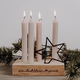"""Kerzenhalter-Kerzenbrett  """"Ein Lichtlein brennt"""""""