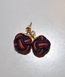 Earrings Dark Dark Blue/ Red