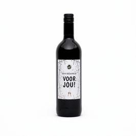 Wijn bedankje voor jou Rood