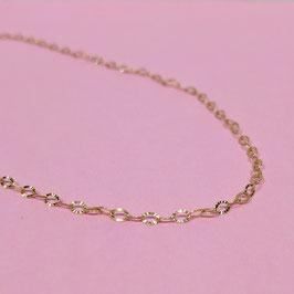 rosevergoldete Ösenkette
