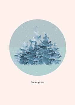 "Poster ""winterlandschaft 1"""