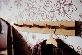 Hakenleiste aus Eiche ab 50cm