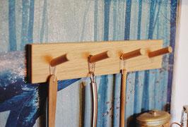 Hakenleiste aus Eiche 40cm