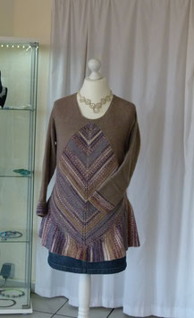 Pullover mit diagonal Muster