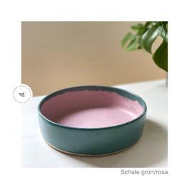 Auflaufform grün/rosa