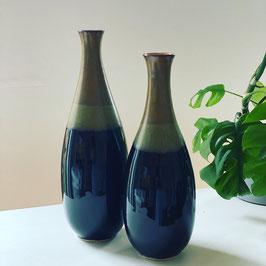 Vase schwarz/braun
