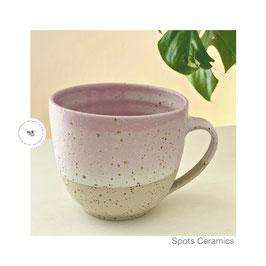 Spots Jumbo Becher rosa/weiß