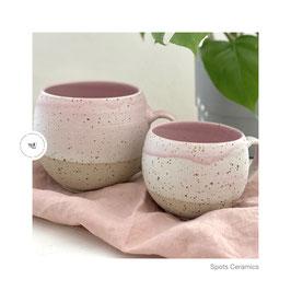 Spots Cups 500ml weiß/rosa