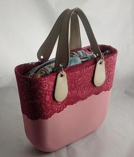4a-Bag Mini mit Spitze Altrosa